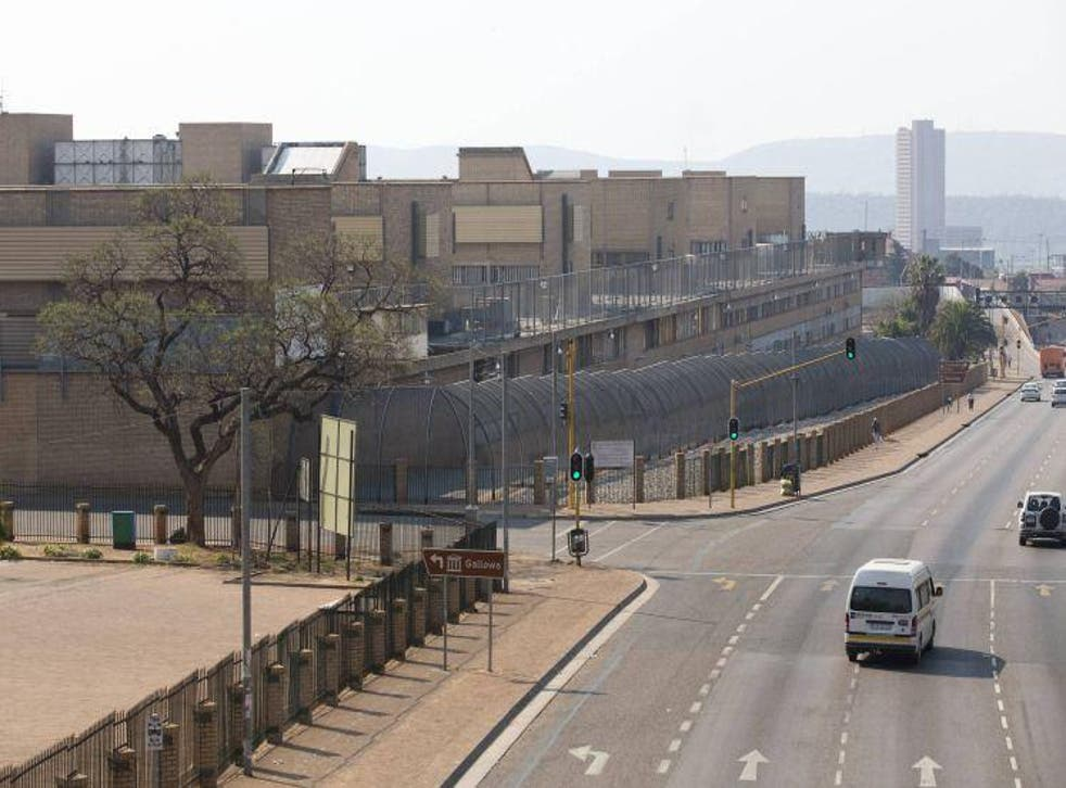 A view of the Kgosi Mampuru II prison in Pretoria