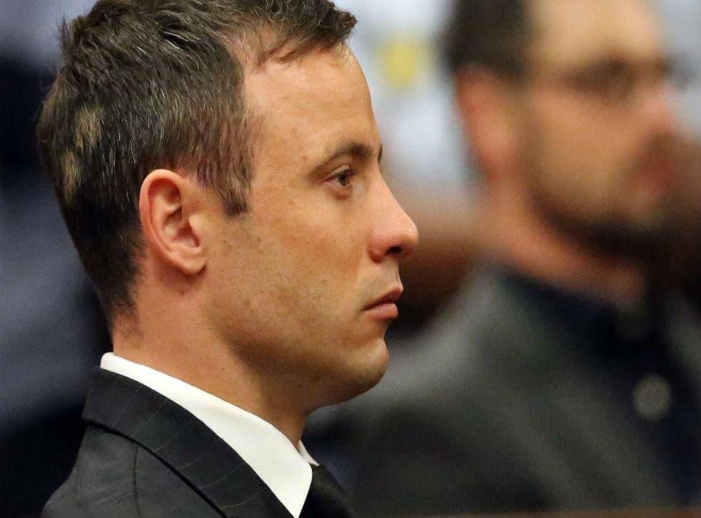 Oscar Pistorius in court on 21st October 2014