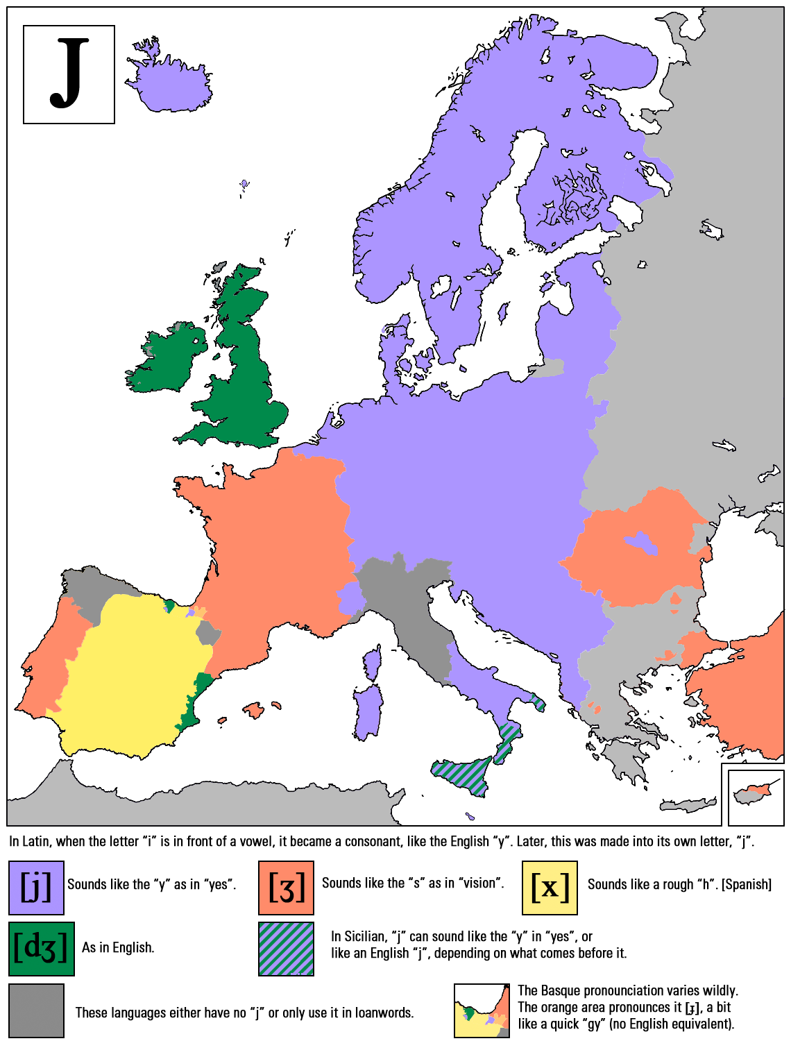 How selected consonants sound around Europe, in 9 maps | indy100