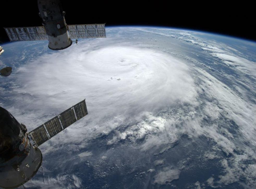 The view of a storm from the International Space Station, which is responsible for the lives of a number of people and could be vulnerable to cyber security attacks
