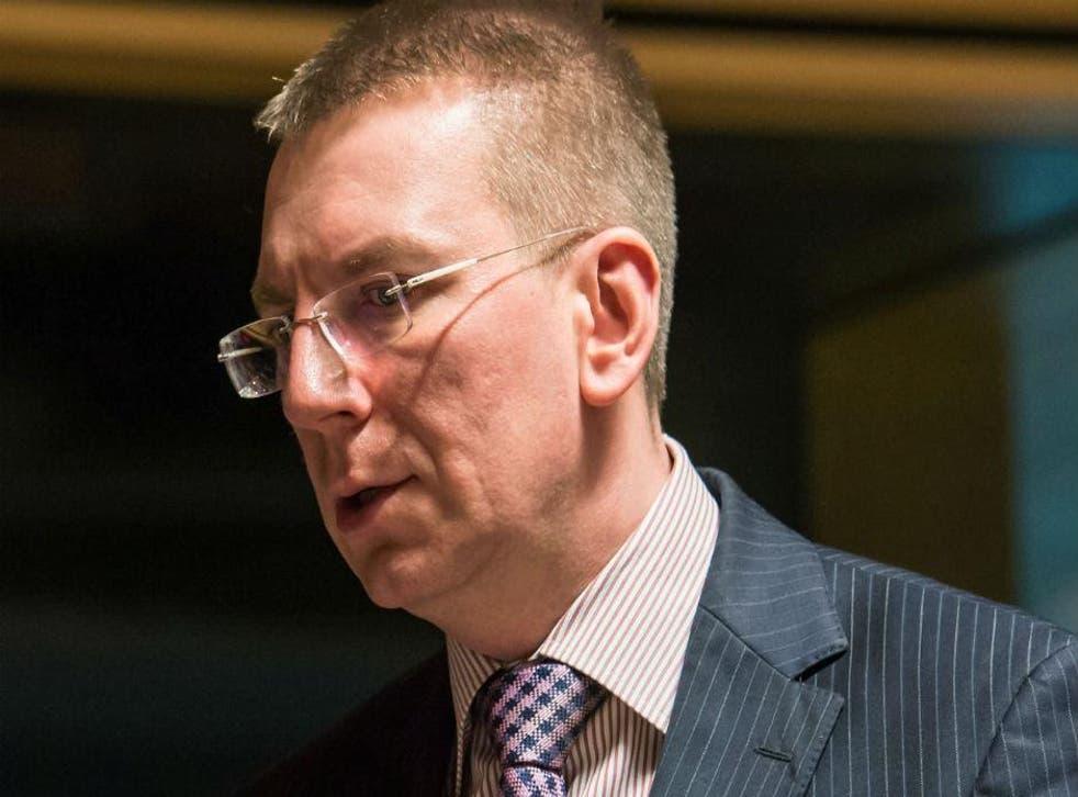 Edgars Rinkevics, Latvia's foreign minister