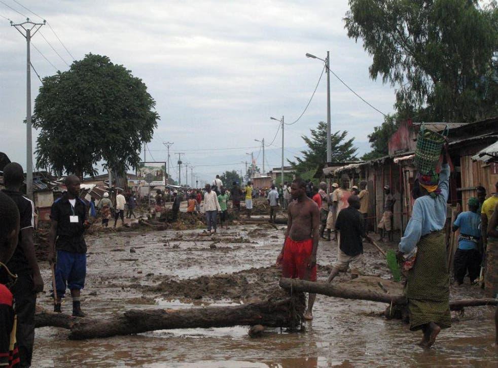 Flooding in Burundi's capital city, Bujumbura
