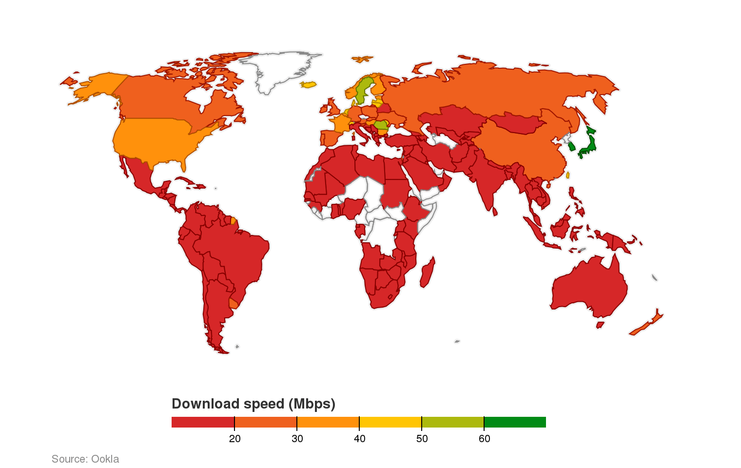The countries with the fastest and slowest broadband speeds | indy100