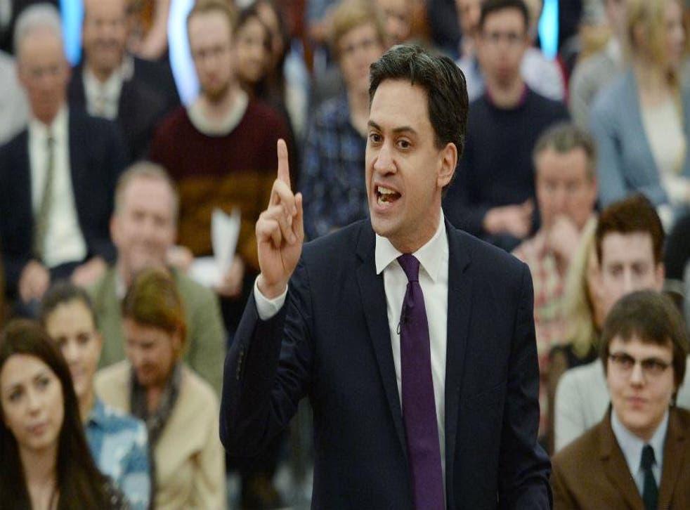 Ed Miliband speaking at the University of London on 13th November 2014