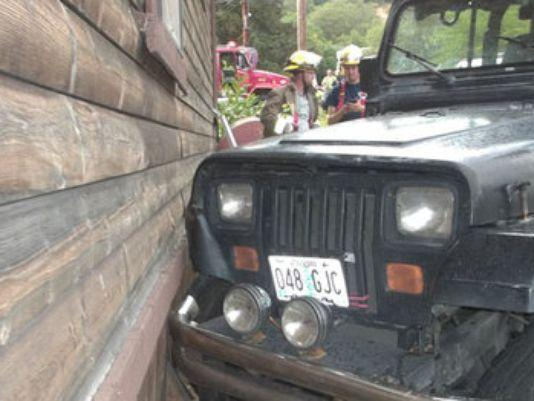 Three-year-old crashes Jeep into house, flees scene to watch