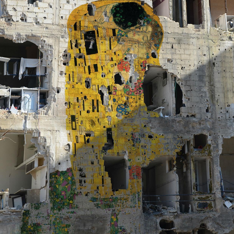Syrian Museum - Klimt Freedom Graffiti.jpg