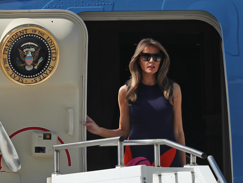 Melania Trump trapped in hotel