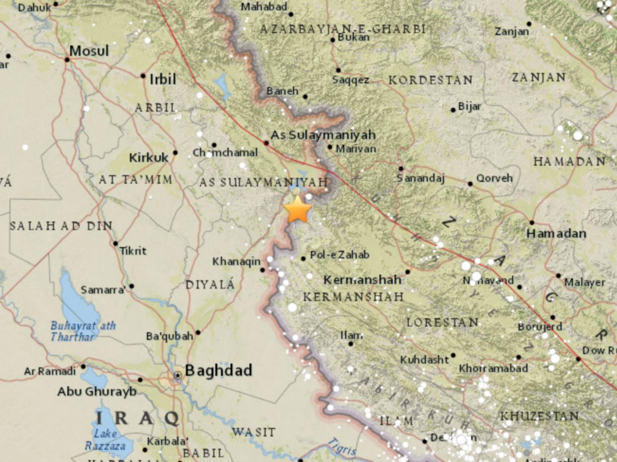7.3 earthquake - Iraq-Iran border