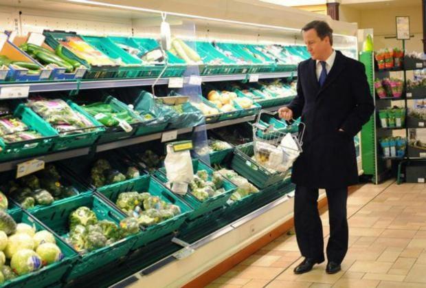 Image result for david cameron supermarket