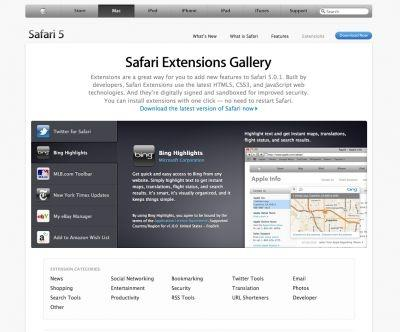 Safari update puts Twitter, Amazon, Bing in your browser ...