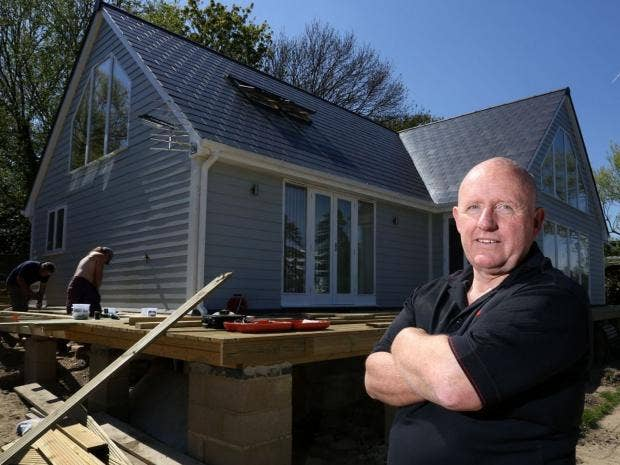 Tax change lays foundation for self build boom in uk the independent bill jenkins pictured at his newly built home in staines surrey susannah ireland the independent solutioingenieria Gallery