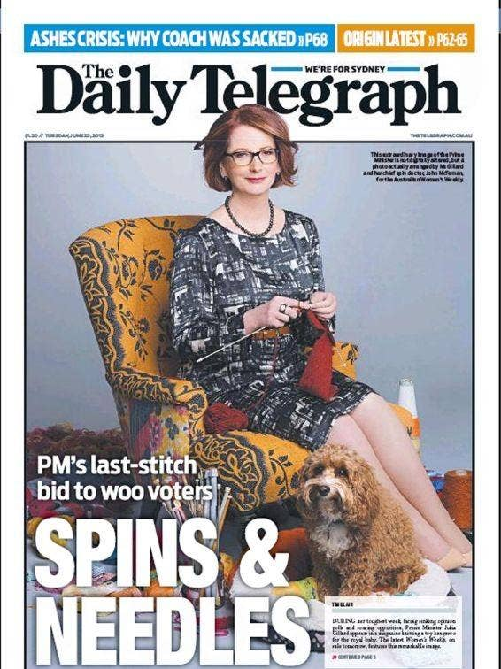 A last-stitch bid? Storm over photo of republican Australia PM Julia Gillard ...
