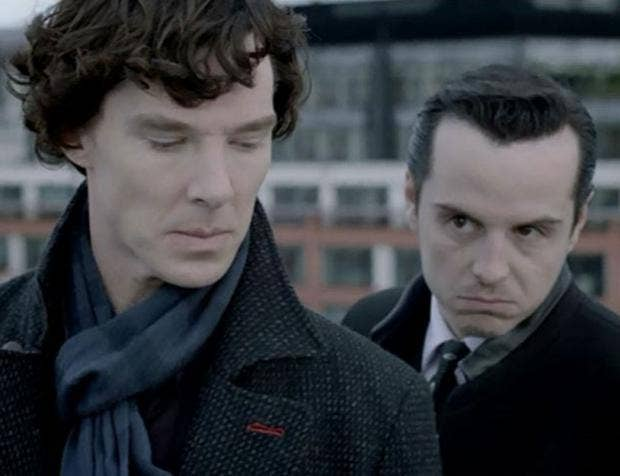 Sherlock and Moriarty are 'absolutely obsessed with each ...  |Andrew Scott And Benedict Cumberbatch In Pajamas