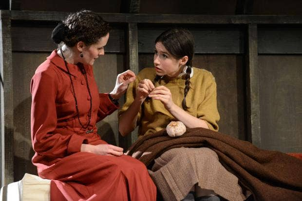Emma Deegan (Helga) Gabrielle Dempsey (Eva) Kindertransport UK Tour 5 of 6.jpg