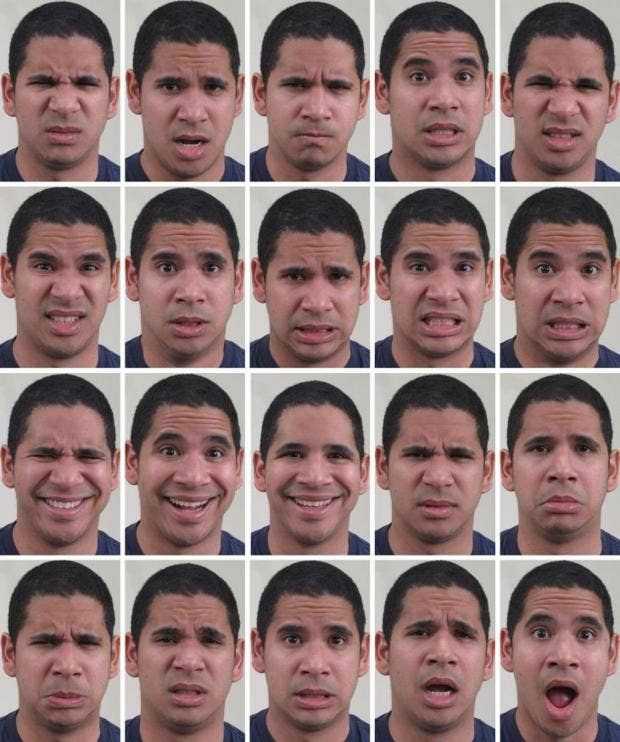 facial expressions reflect emotional states Darwin and emotion expression  cation of emotional states and the need for clarity in this  ered facial expressions as social or cultural signals only.