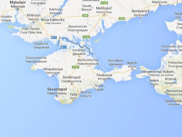 Ukraine crisis Crimea made part of Russia on Google Maps but