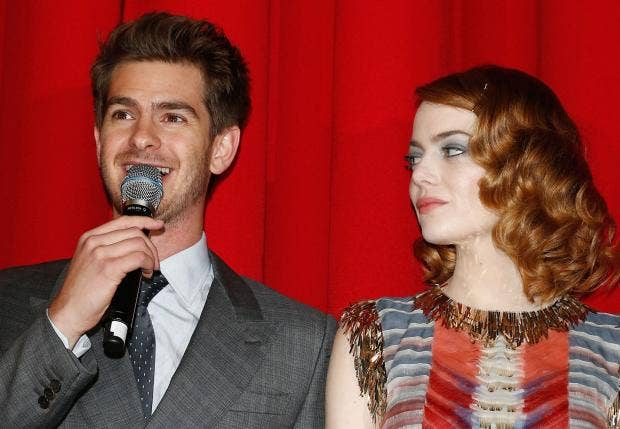 Emma Stone calls out boyfriend Andrew Garfield on sexism during live  Spider-Man Q&A