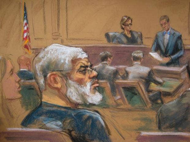 Abu hamza former imam of finsbury park mosque convicted in new york a courtroom sketch shows abu hamza as he is found guilty epa fandeluxe Image collections