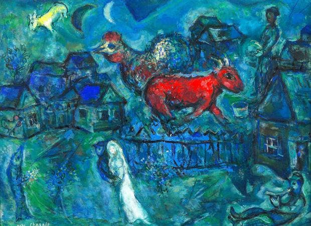 Rarely Seen Marc Chagall Paintings Go On Show For First