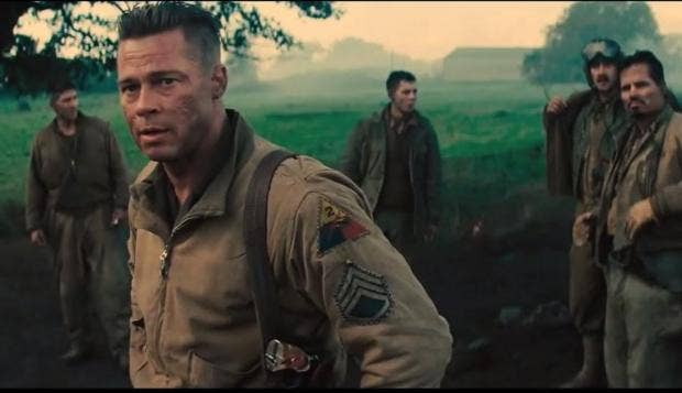 First Footage Of Fury Released Starring Brad Pitt Shia LaBeouf - New official trailer fury starring brad pitt