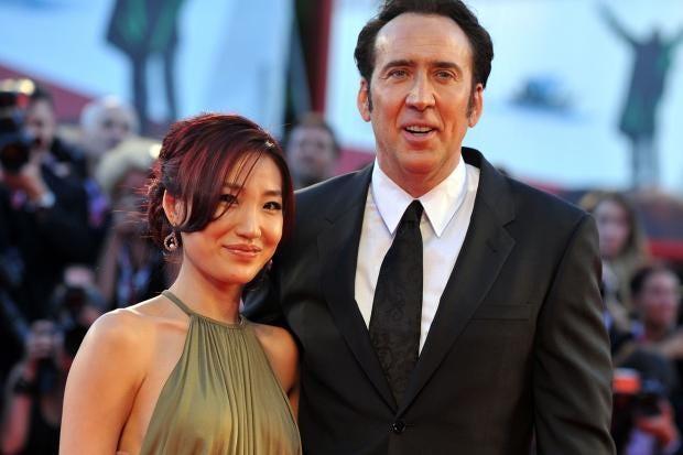 Nicolas Cage And Alice Kim 2014