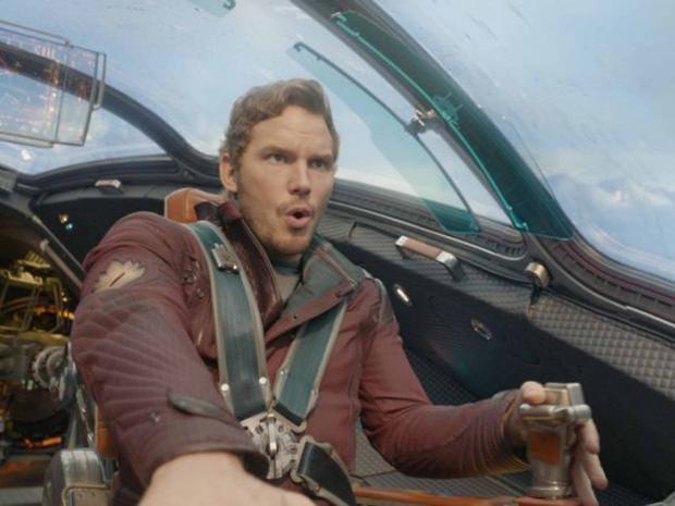 High-flyer: Chris Pratt in 'Guardians of the Galaxy' ©Marvel 2014/Imagenet