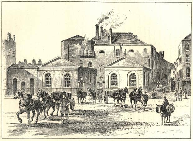 Horse Shoe Brewery 1830  Public Domain (copyright expired).jpg