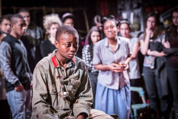 Juma Sharkah & Weruche Opia in Liberian Girl at the Royal Court. Credit Johan Persson. 02275.jpg