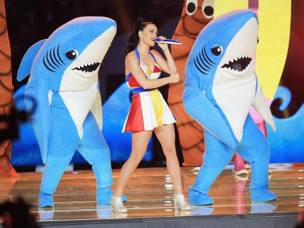 Image result for katy perry super bowl 2015 sharks