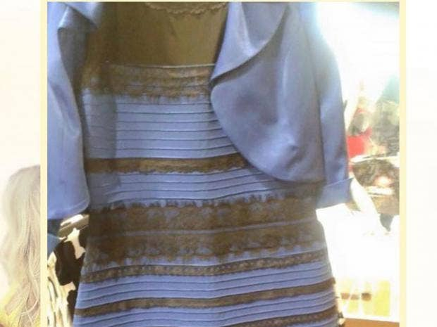 Blue and yellow makes what color is the dress