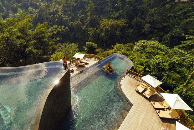 infinity pools showing other pools how it s done ubud hanging gardens