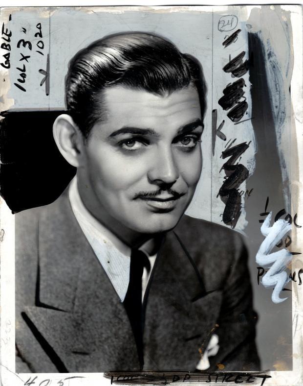 _Clark Gable 1932-33_ Tirage argentique vintage retouche¦ü a¦Ç la main, 20 x 25 cm - Pie¦Çce unique - Courtesy ARGENTIC.jpg