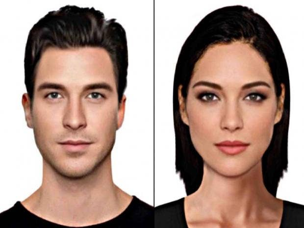 The male and female faces thought to be the epitome of ...