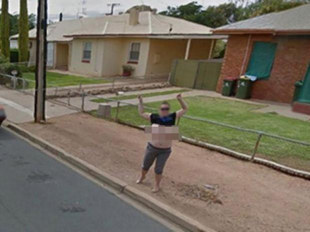 google street view flasher censored then arrested after. Black Bedroom Furniture Sets. Home Design Ideas