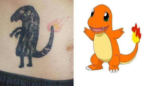 This is what happens when you tattoo Charmander on ...