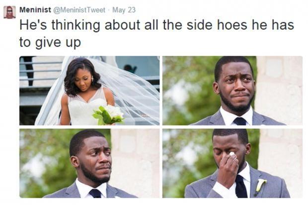 groom meninist' meme backfires after groom mocked on twitter comes up