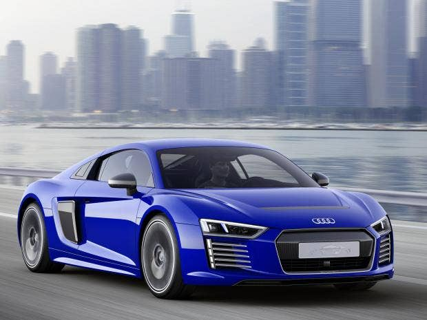 audi r8 e tron super fast electric concept sports car can drive itself the independent. Black Bedroom Furniture Sets. Home Design Ideas