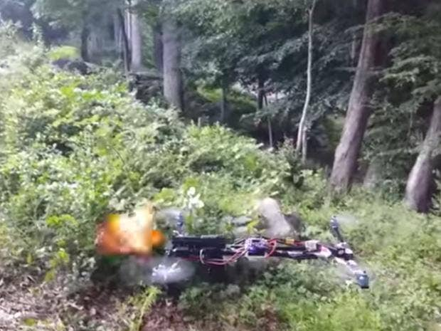 Video Showing Home Made Drone With Gun Thats Able To Fire Leads Fears Quadcopters Could Be Banned