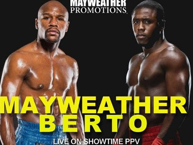Floyd mayweather vs andre berto what time does it start and what