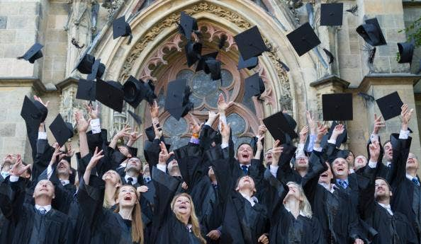 Number of graduates receiving 21 or Firstclass honours degrees