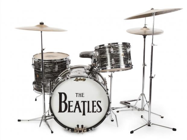 Starrs First 1963 Ludwig Oyster Black Pearl Three Piece Drum Kit AP