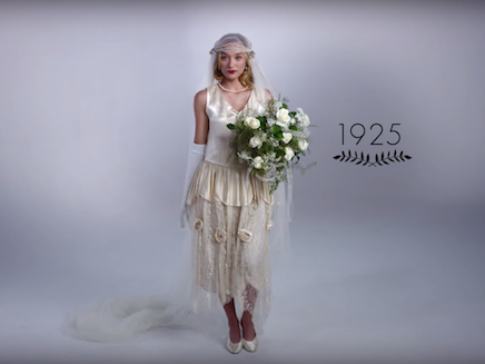 100 Years Of Wedding Dresses In 3 Minutes The Independent - Wedding Dress 100