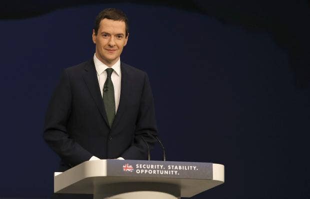George Osborne makes his keynote speech to the Conservative party conference