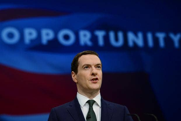 George Osborne delivers his keynote speech to the Conservative party conference