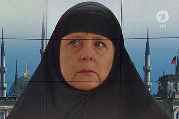 Image result for Merkel and arabs