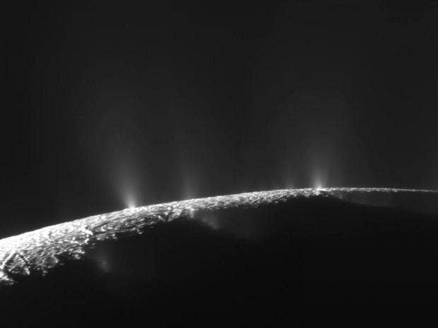 Saturn and Jupiter's moon burps bode well for distant life