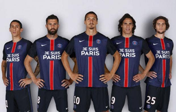 Paris Saint Germain Players Will Wear Special Shirts To Honour The Paris Victims Www Psg Fr