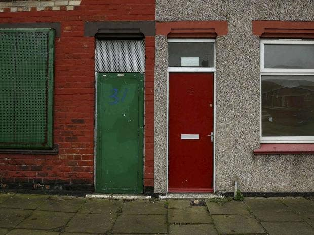 A house with a painted red door is seen on a terraced street in the Gresham area of Middlesbrough northern Britain January 20 2016. Reuters & Red doors of asylum seeker housing in Middlesbrough repainted \u0027range ...