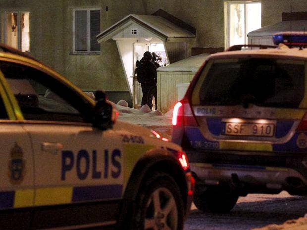 Swedish police launch murder investigation after man stabbed to death  during 'fight' at refugee centre