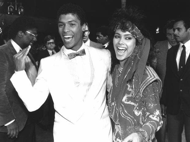 Attractive Vanity And The Martial Arts Actor Taimak Arrive At The Premiere Of Their  1985 Film U0027The Last Dragonu0027 AP